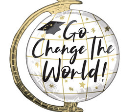 Go change the world globe helium foil giant balloon 58cm 23 in product image